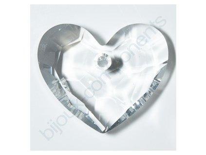 SWAROVSKI ELEMENTS přívěsek - Truly in Love Heart, crystal, 18mm