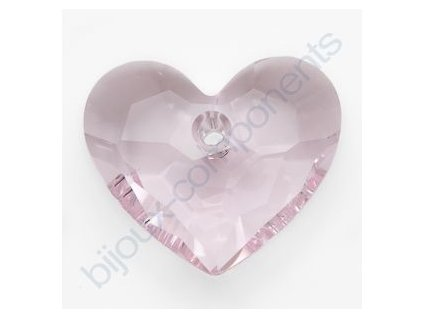 SWAROVSKI ELEMENTS přívěsek - Truly in Love Heart, rosaline, 18mm