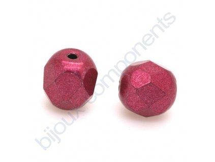 Ohňové korálky barvené - metalické, cca 6mm/ červené