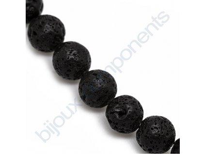 Polodrahokamové kuličky - Black lava rock