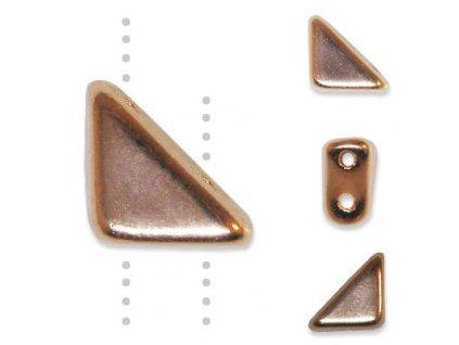 Skleněné korálky mačkané-voskované, TANGO BEAD cca 6mm / měděná