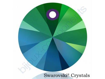 SWAROVSKI CRYSTALS přívěsek - XILION, crystal scarabeus green, 12mm