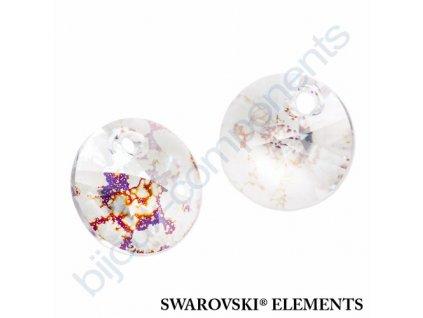 SWAROVSKI ELEMENTS přívěsek - XILION, crystal white patina, 12mm
