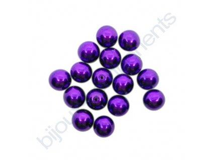 Skleněné voskované perle, tmavě orchidejová - díky složitým technologickým procesům při výrobě, nelze zajistit stejný odstín barev u jednotlivých velikostí.
