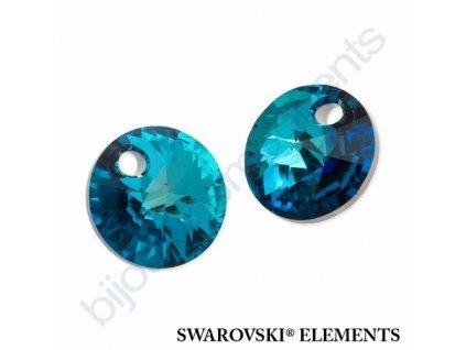 SWAROVSKI ELEMENTS přívěsek - XILION, crystal bermuda blue, 8mm