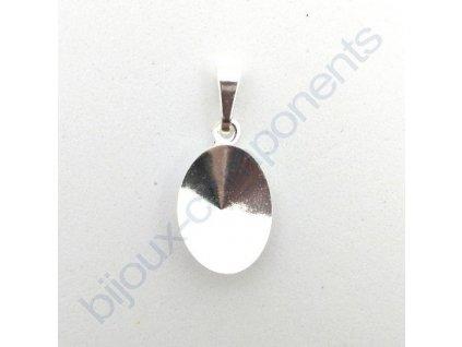 Přívěskový kotlík se šlupnou na oválnou rivoli 4122 14x10,5mm, cca 23x10,5mm