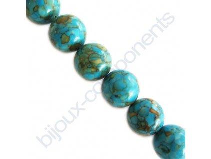Barvený tyrkys - hladká perle