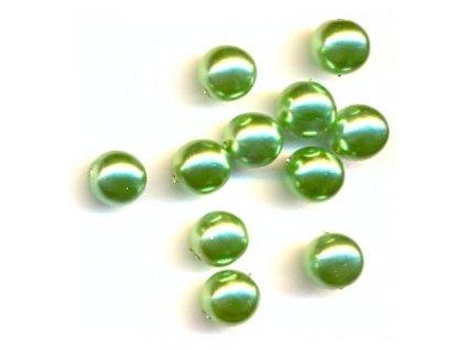 Skleněné voskované perle, světle zelená - díky složitým technologickým procesům při výrobě, nelze zajistit stejný odstín barev u jednotlivých velikostí !!!