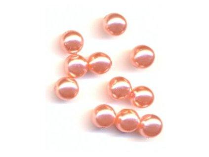 Skleněné voskované perle, lososová - díky složitým technologickým procesům při výrobě, nelze zajistit stejný odstín barev u jednotlivých velikostí !!!