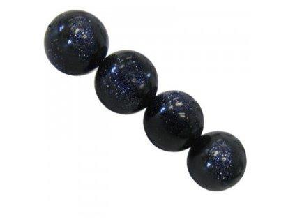 Polodrahokamové kuličky - blue gold stone