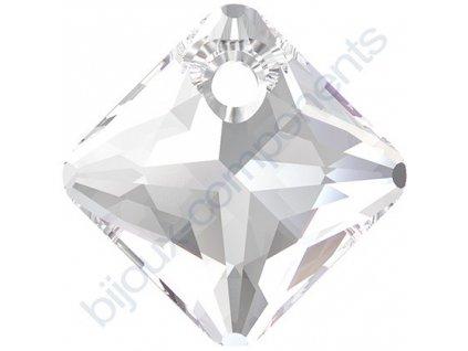 SWAROVSKI CRYSTALS přívěsek - Princess Cut, crystal, 16mm