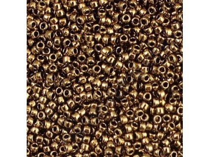 TOHO rokajl, Bronze, vel.3,1 mm, průtah 1,3 mm