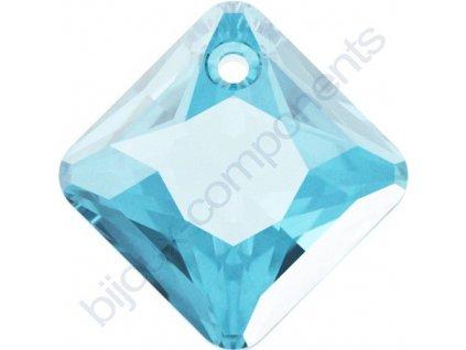 SWAROVSKI CRYSTALS přívěsek - Princess Cut, aquamarine, 11,5mm
