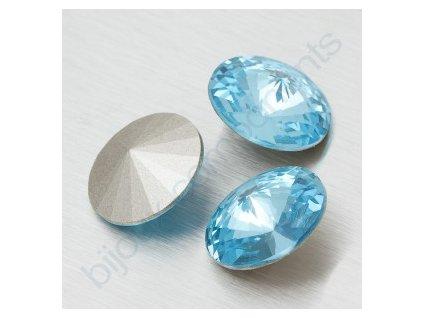 SWAROVSKI ELEMENTS kameny - Rivoli Chaton, aquamarine, 12mm