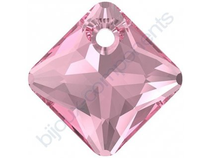 SWAROVSKI CRYSTALS přívěsek - Princess Cut, rose, 11,5mm