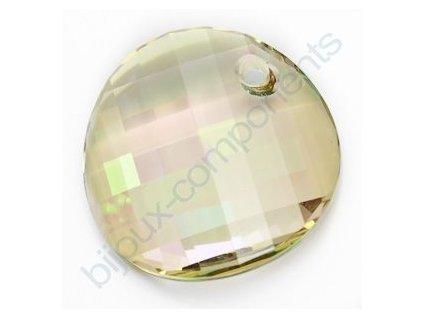 SWAROVSKI ELEMENTS přívěsek - Twist, crystal lumin green, 28mm