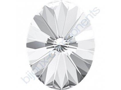 SWAROVSKI CRYSTALS kameny - Oval Rivoli Fancy Stone, crystal F, 18x13,5mm