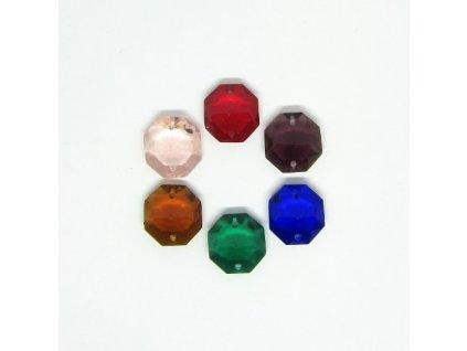 Polobrusová hlavička z barevného skla