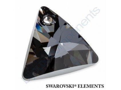 SWAROVSKI ELEMENTS přívěsek - XILION trojúhelník, crystal silver night, 16mm