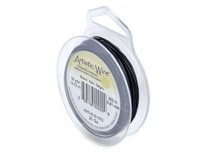 Umělecký barevný drát - černý