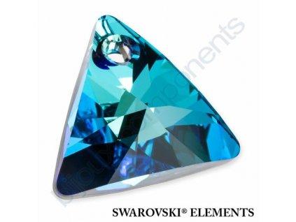 SWAROVSKI ELEMENTS přívěsek - XILION trojúhelník, crystal bermuda blue P, 8mm