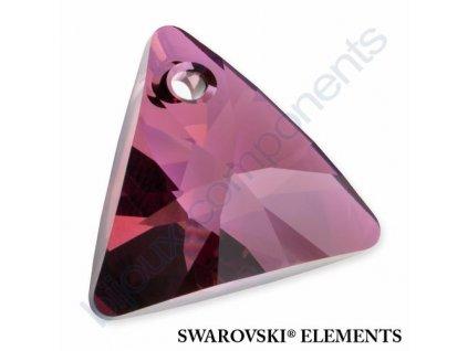SWAROVSKI ELEMENTS přívěsek - XILION trojúhelník, crystal lilac shadow, 8mm
