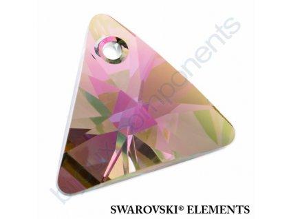 SWAROVSKI ELEMENTS přívěsek - XILION trojúhelník, crystal paradise shine, 8mm