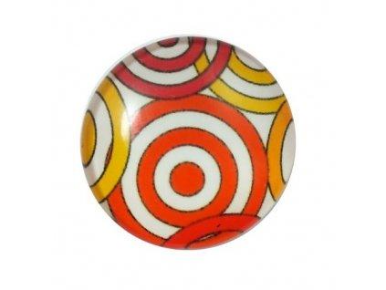 Kabošon z pryskyřice, cca 25mm - kaleidoskop
