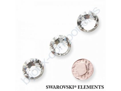 SWAROVSKI CRYSTALS šatonová růže - nažehlovací (s vrstvou lepidla), crystal, SS30