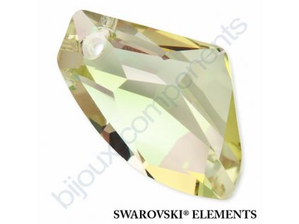 SWAROVSKI ELEMENTS přívěsek - Galactic Vertical, crystal lumin green, 27mm