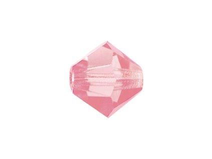 PRECIOSA - MC Bead Rondelle, rose, cca 4mm