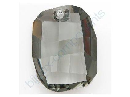 SWAROVSKI ELEMENTS přívěsek - Graphic, black diamond, 28mm