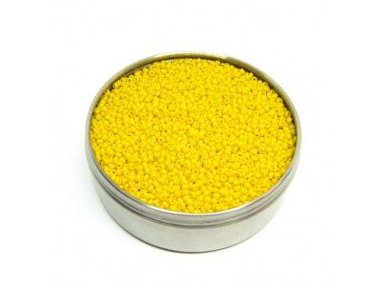 PRECIOSA rokajl - sytě žlutý, 9/0 cca 2,6mm