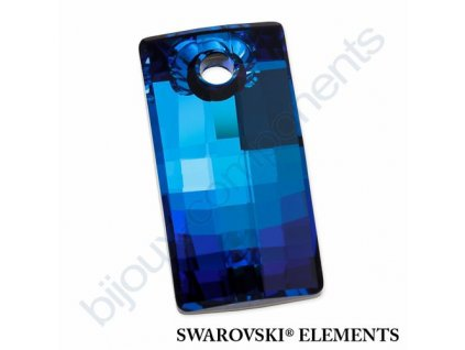 SWAROVSKI ELEMENTS přívěsek - Urban, crystal bermuda blue P, 30mm