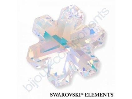 SWAROVSKI ELEMENTS přívěsek - sněhová vločka, crystal AB, 20mm
