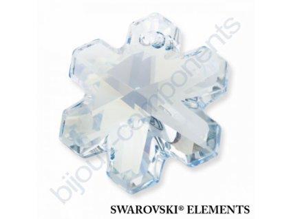 SWAROVSKI ELEMENTS přívěsek - sněhová vločka, crystal blue shade, 20mm