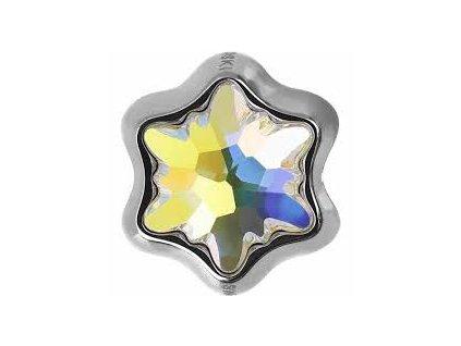 SWAROVSKI CRYSTALS BeCharmed Edelweiss Bead - crystal AB, 13,5mm