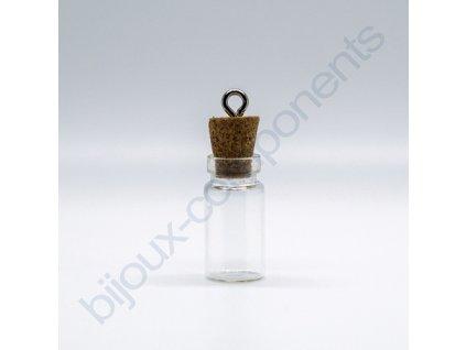 Skleněná mini lahvička, cca 22x11mm