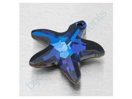 SWAROVSKI ELEMENTS přívěsek - mořská hvězda, crystal bermuda blue, 20mm
