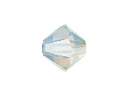 PRECIOSA - MC Bead Rondelle, white opal, cca 4mm