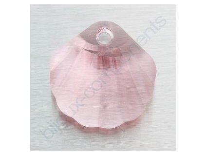 SWAROVSKI ELEMENTS přívěsek - Mušle, light rose, 16mm