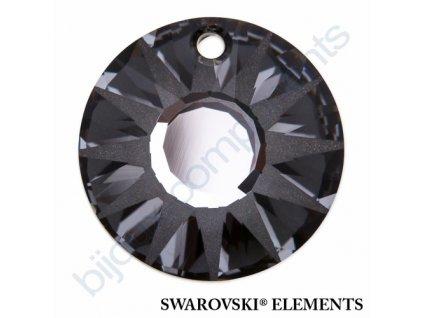 SWAROVSKI ELEMENTS přívěsek - Sun, crystal silver night, 33mm