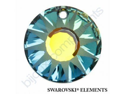 SWAROVSKI ELEMENTS přívěsek - Sun, crystal sahara P, 12mm