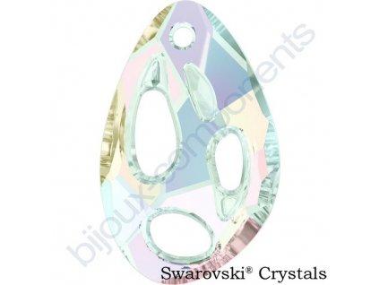SWAROVSKI CRYSTALS přívěsek - Radiolarian, crystal AB, 34x22mm