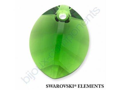 SWAROVSKI ELEMENTS přívěsek - pure leaf, fern green, 14mm