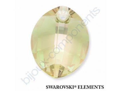 SWAROVSKI ELEMENTS přívěsek - pure leaf, crystal lumin green, 23mm