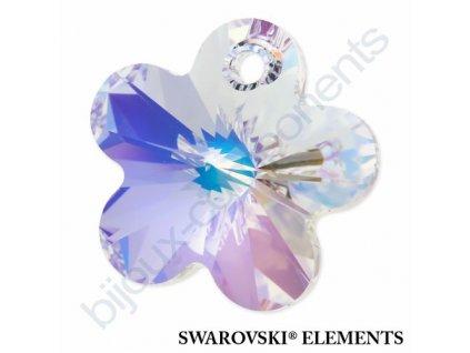 SWAROVSKI ELEMENTS přívěsek - kytička, crystal AB, 14mm