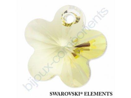 SWAROVSKI ELEMENTS přívěsek - kytička, jonquil, 14mm
