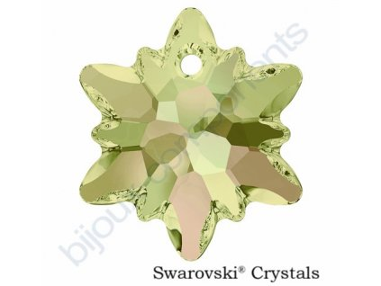 SWAROVSKI CRYSTALS přívěsek - Edelweiss, crystal luminous green, 18mm