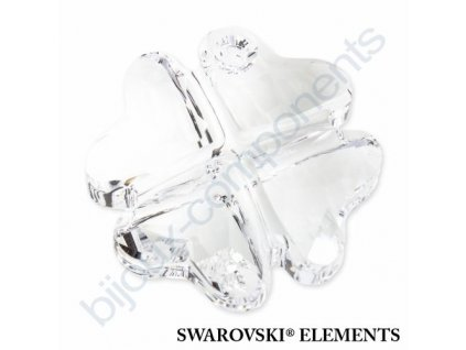 SWAROVSKI ELEMENTS přívěsek - Čtyřlístek, crystal, 23mm